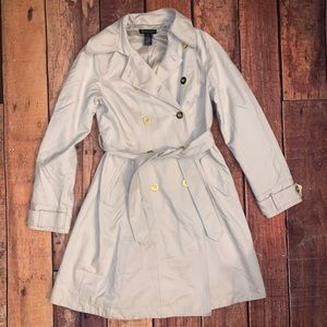 GORGEOUS INC Dress Jacket Trench coat Sz M (Vx)